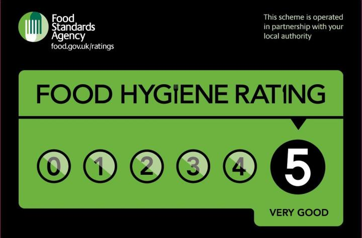 Food Hygiene Rating of 5 at Bryn Yr Haul